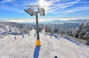 verschneite Landschaft am Ochsenkopf